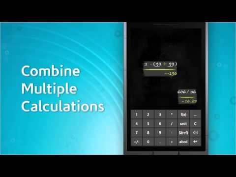 Smartboard Calculator app for Windows Phone - demo