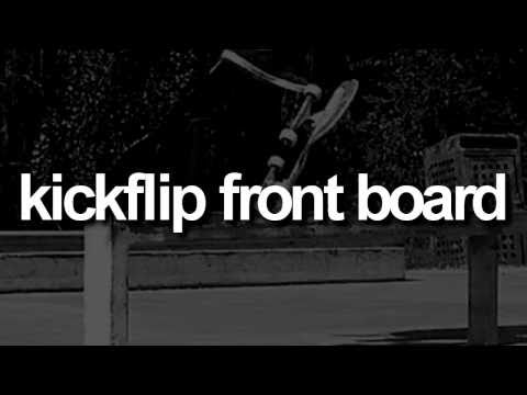 Kickflip Front Board: First-Person Skateboarding.