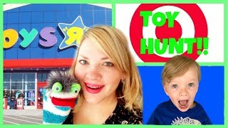 Toy Hunting at Target and Toys R Us with Miss Hands & Fizzy Kid