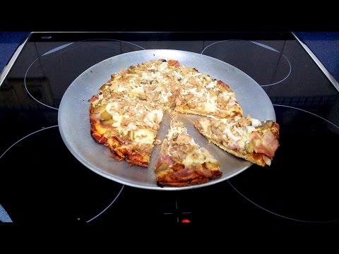 """Receta: Pizza """"Fitness"""" con base de Pollo (0% Carbohidratos)"""