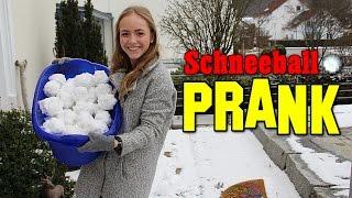 DER SCHNEEBALL PRANK ! BRUDER & FREUNDIN PRANKEN ZURÜCK ! | Schinken Brothers
