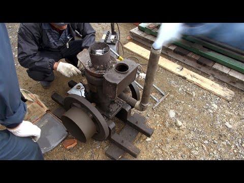 Old Engines in Japan 1930s SATO's SEMI DIESEL ENGINE 2hp Part 1