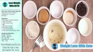 Best Keto Mug Cake Chocolate and Peanut Butter 2 Min Recipe | Weight Loss With Keto