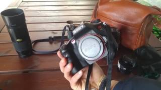 Minolta Vintage lenses on the new Sony alpha camera! Prime lens HD video