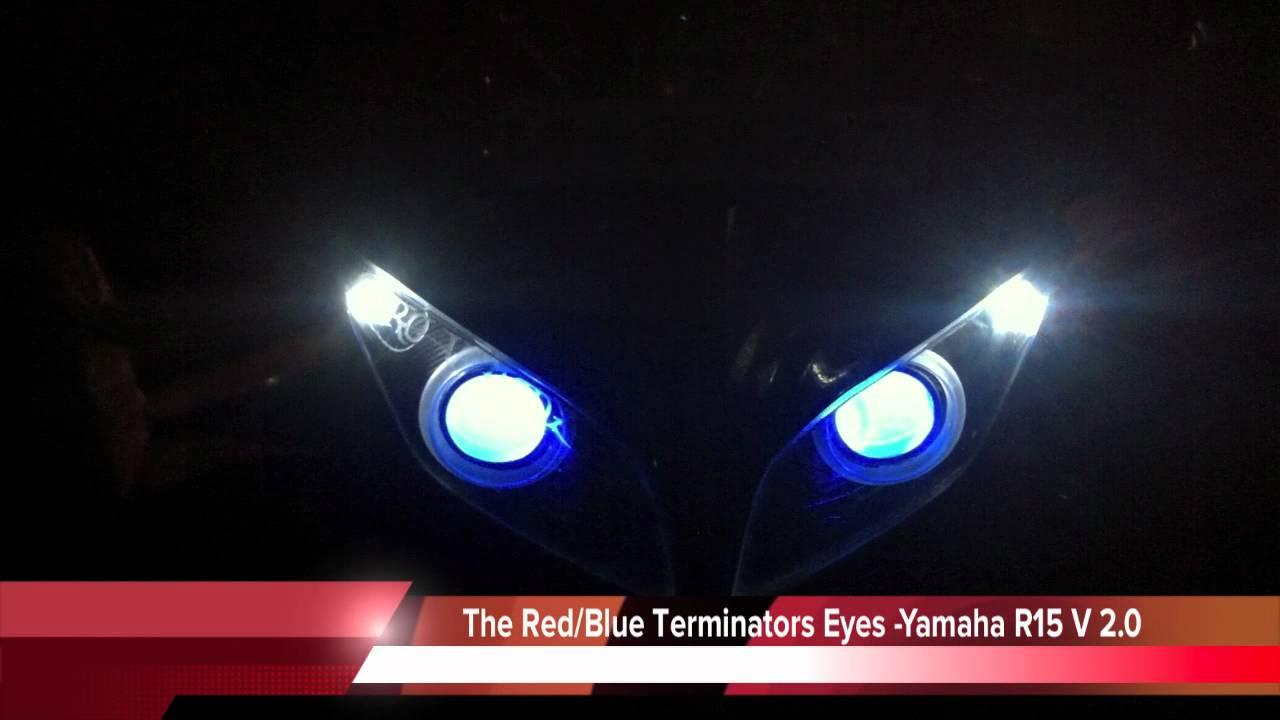 R15 V2 Modified With Projector Lights New Yamaha R15 V 2 0 Bi-xenon