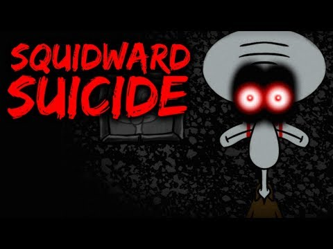 HAUNTED SPONGEBOB HORROR EPISODE - SQUIDWARD'S SUICIDE (Red Mist) - Scariest Videos on YouTube #13