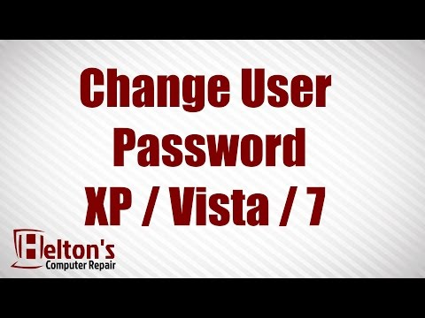 Change User Password - XP / Vista / 7
