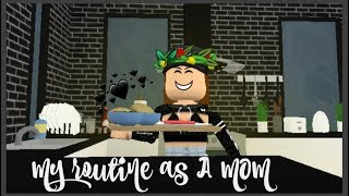 My Routine as A Mom Bloxburg (Roblox)