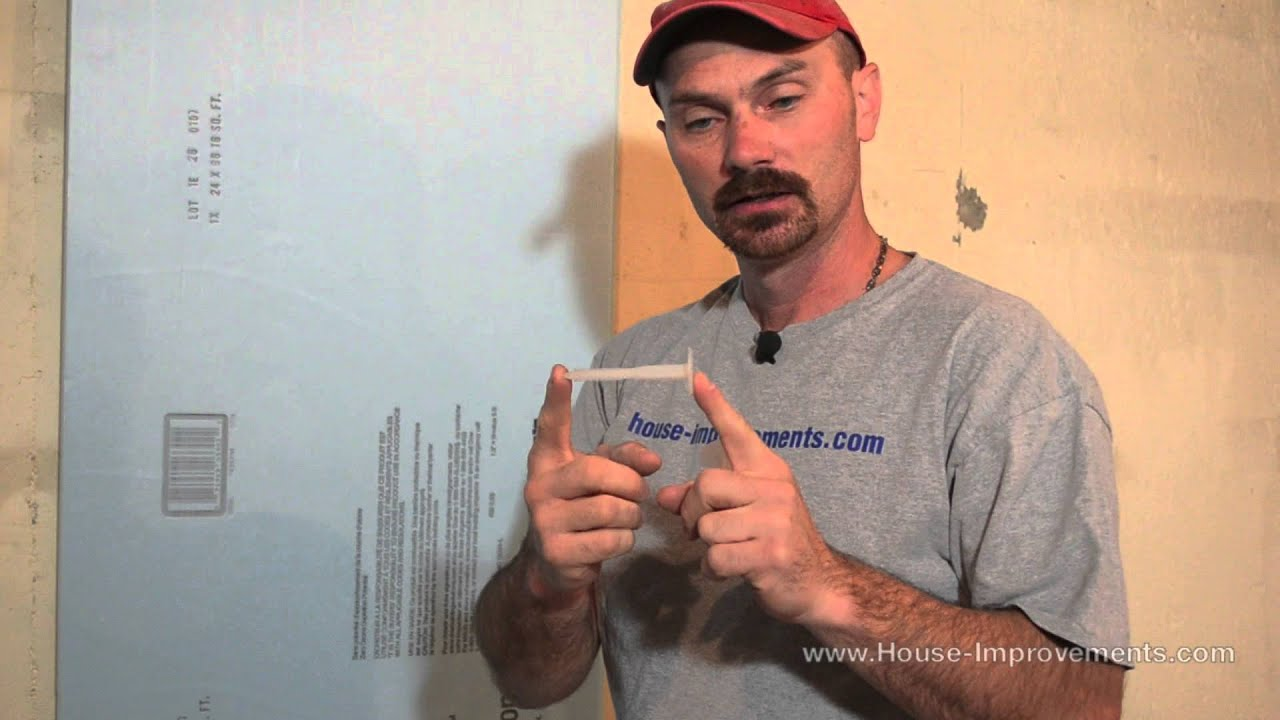 How to attach rigid foam insulation to concrete youtube - Adding rigid insulation to exterior walls ...