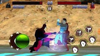 Batman Player vs Superman CPU at Desert   Superheros Fighting Game   Kids Gaming Playland
