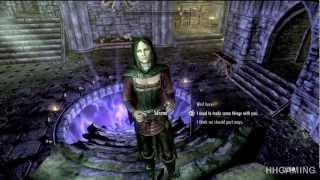 Skyrim Dawnguard - walkthrough part 17 HD Durnehviir dragon dlc add on expansion - Vampire lord