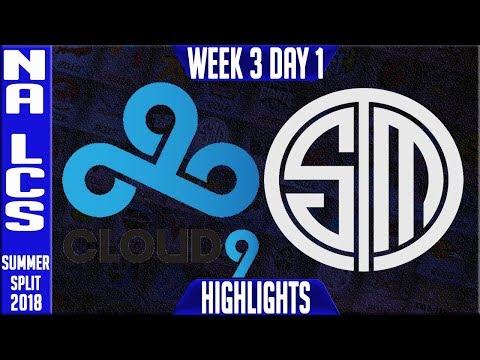 C9 vs TSM Highlights   NA LCS Summer 2018 Week 3 Day 1   Cloud 9 vs Team Solomid