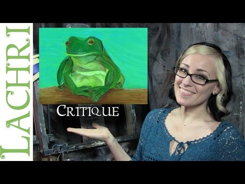 Critique of a white's tree frog drawing in colored pencil w/ Lachri