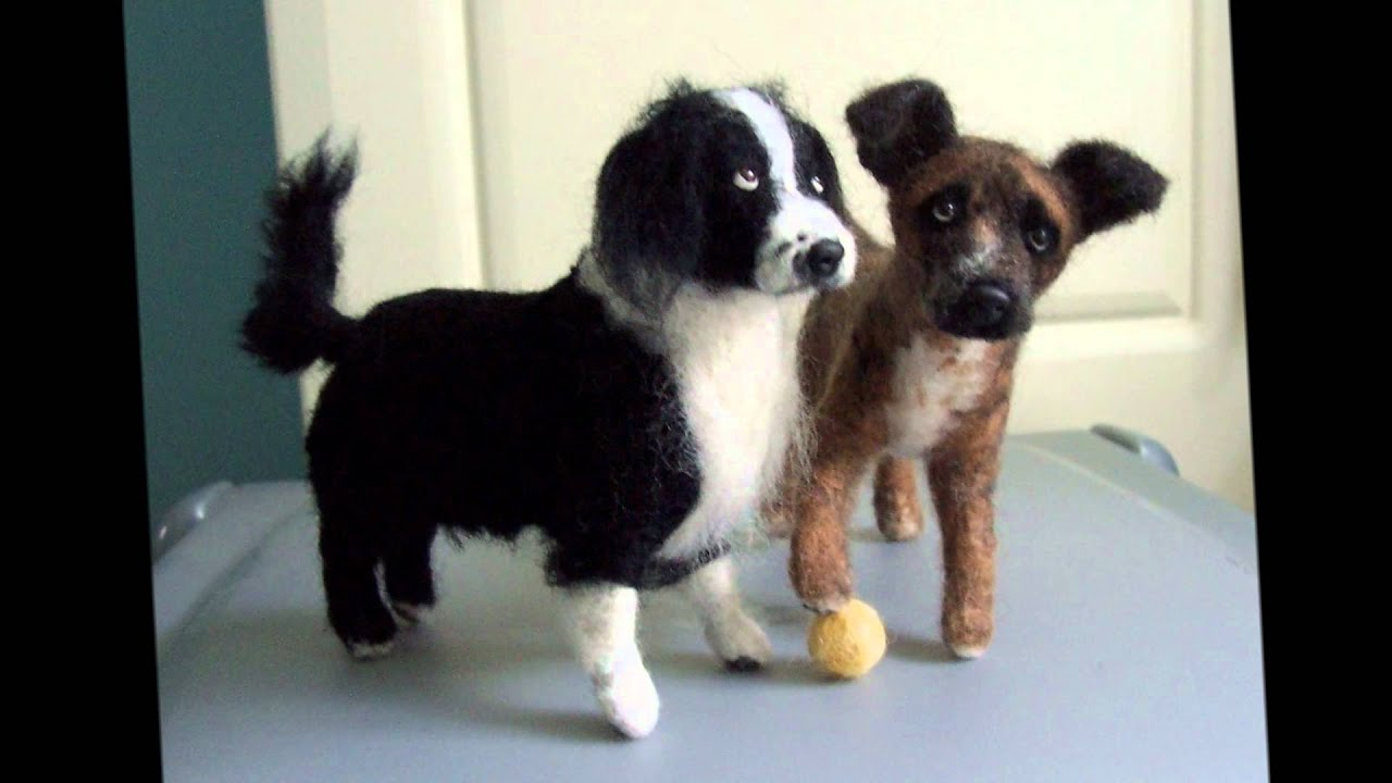Needle Felted Dogs How To Make