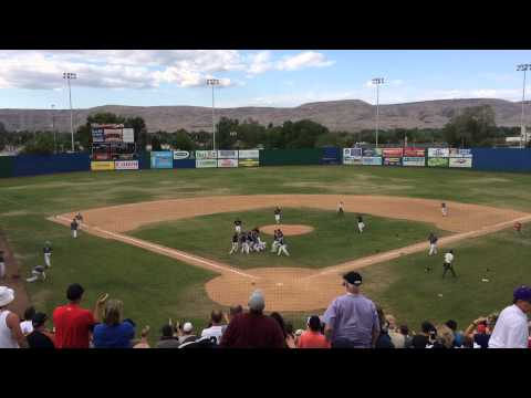 Ellensburg High School's final out in state championship