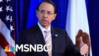NY Times Story May Give Donald Trump Excuse He Seeks To Fire Rod Rosenstein | Rachel Maddow | MSNBC