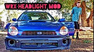 Subaru Headlight MOD done The EASY way ( subie day time lights OFF)