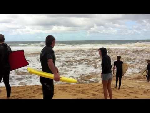 Thumbnail of video Riding stationary wave at wamberal lagoon