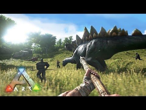 ARK: Survival Evolved - ПЕРВАЯ ОХОТА НА ДИНОЗАВРОВ!! (ARK Ragnarok)