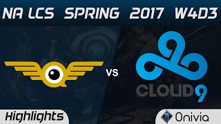 FLY vs C9 Highlights Game 1 NA LCS Spring 2017 W4D3 FlyQuest vs Cloud9