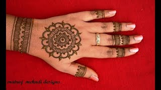Easy Simple Gol Tikki Mehndi Ka Design |Mehndi Design Step by Step Tutorials | Matroj Mehndi Designs