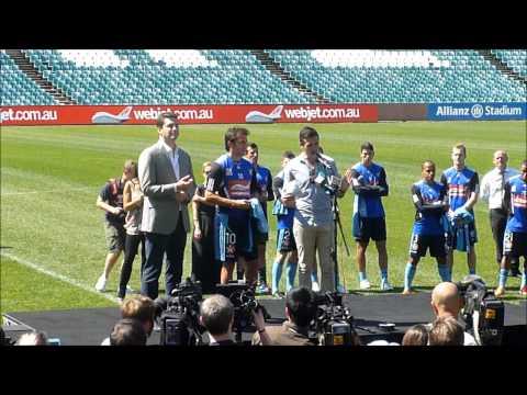 Del Piero Sydney FC Shirt Presentation 2012