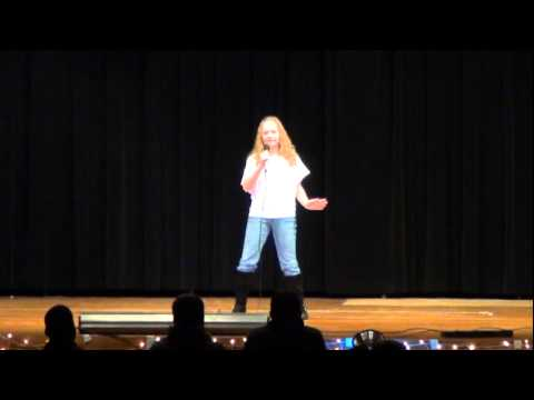 2011-12-16 Hanna Huya solo at Bridgeport Middle School Talent Show