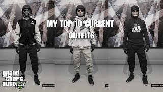 GTA 5 MY TOP 10 CURRENT OUTFITS | SHOWCASE |