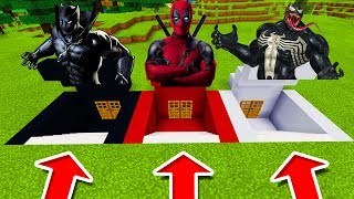 Minecraft PE : DO NOT CHOOSE THE WRONG SECRET BASE! (Black Panther, DeadPool & Venom)