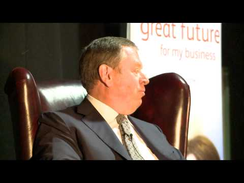 """The Lord Kirkham, self-made retail billionaire: """"Unplugged"""" live audience interview"""