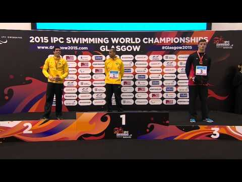 Men's 100m Freestyle S10 | Victory Ceremony | 2015 IPC Swimming World Championships Glasgow