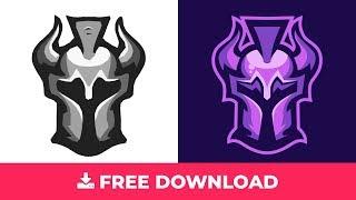 Spartan Helmet Gaming Logo Free Download #speedart