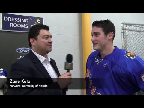Florida hockey post game - Zane Katz