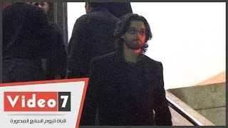 . رامى عادل إمام وعمر خورشيد وأحمد الشامى فى عزاء والد الموسيقار خالد حماد