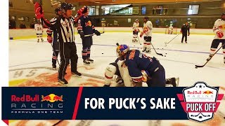 The worst Ice Hockey fight ever? Daniel Ricciardo and Max Verstappen fight it out!