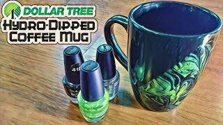 Dollar Tree Hydro-Dipped Coffee Mug - DIY with Cly Ep. 6