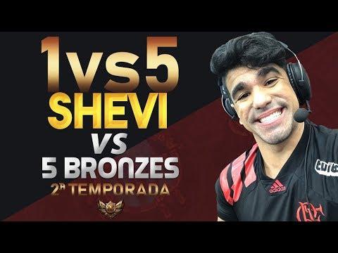 1vs5 (2ª Temporada) - SHEVI vs 5 BRONZES!