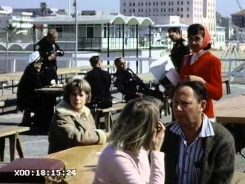Natalie Wood Ruth Gordon Christopher Plummer and Robert Redford shooting Inside Daisy Clover on Santa Monica Pier and in swimming pool 1965. Also the great author Christopher Isherwood of Cabaret...