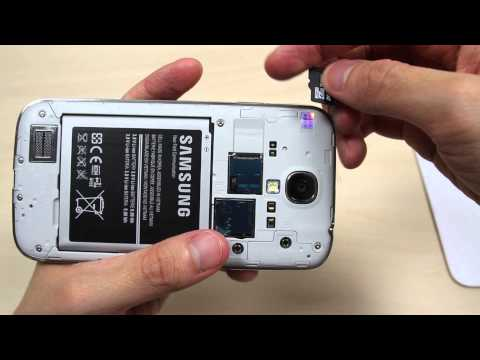 How to insert and remove the micro SD card on Samsung Galaxy S4 GT-I9505