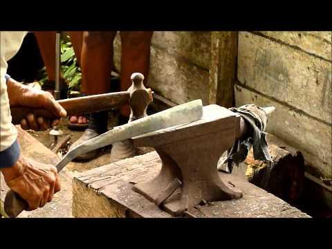 Traditional furnace (Parang) of the Bidayuh in Semban. Sarawak