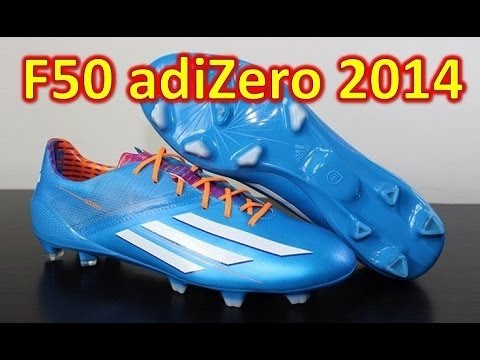 Adidas F50 adizero miCoach 3 2014 Synthetic Solar Blue Samba Pack   Unboxing + On Feet1