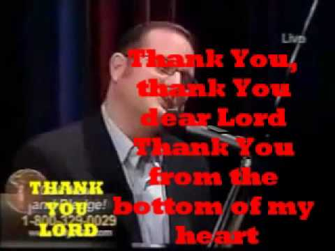 GRACIAS SENOR. THANK YOU MY LORD.MARCOS WITT. LYRICS SPANISH/ENGLISH