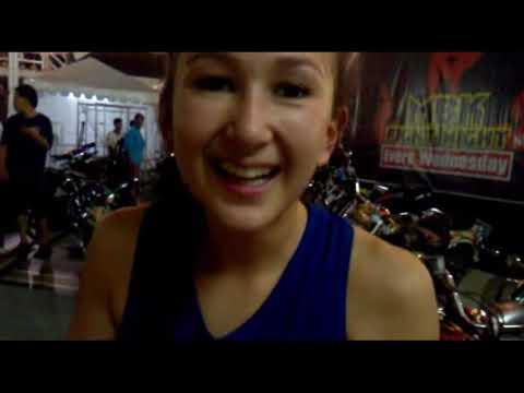 ring girl Femele boxing. Beautiful MBK fight night form Bangkok F