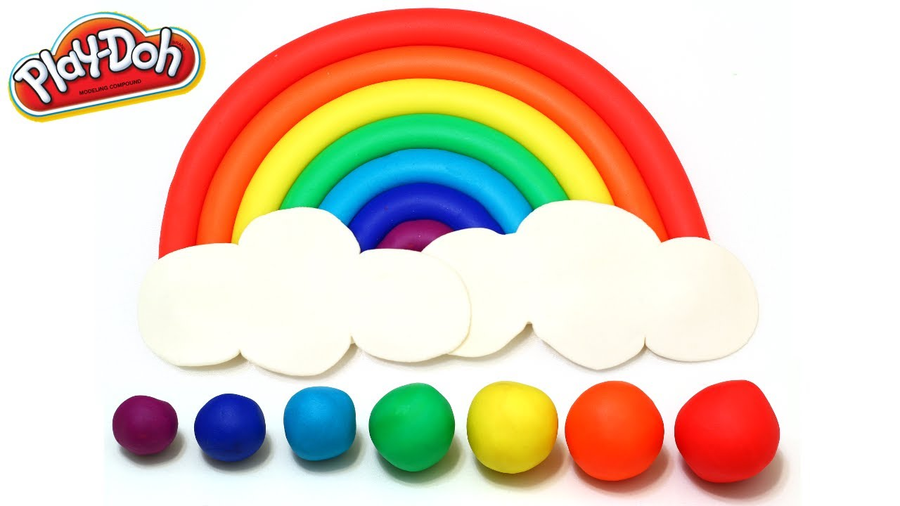 Play Doh Perfect Beautiful Rainbow How To Make Easy Youtube