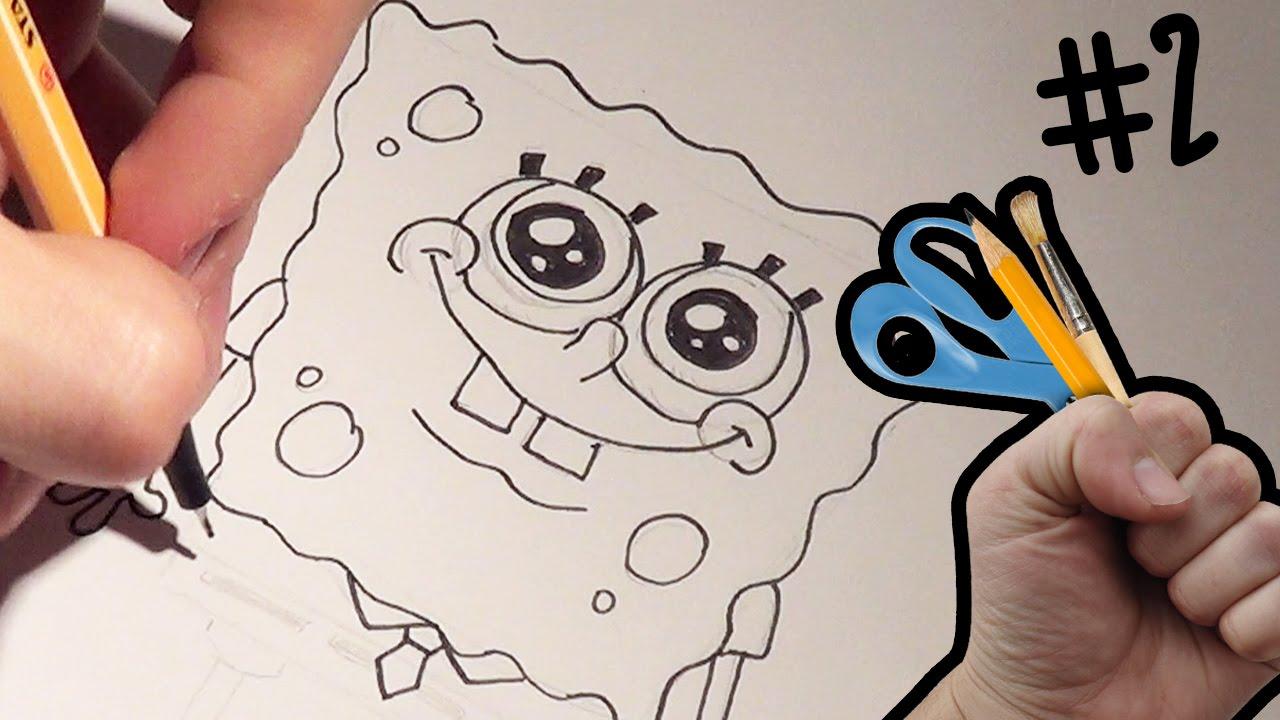Tutorial disegno spongebob come disegnare spongebob for Disegno gatto facile