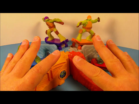 2013 TEENAGE MUTANT NINJA TURTLES SET OF 8 McDONALD'S HAPPY MEAL TOY'S VIDEO REVIEW