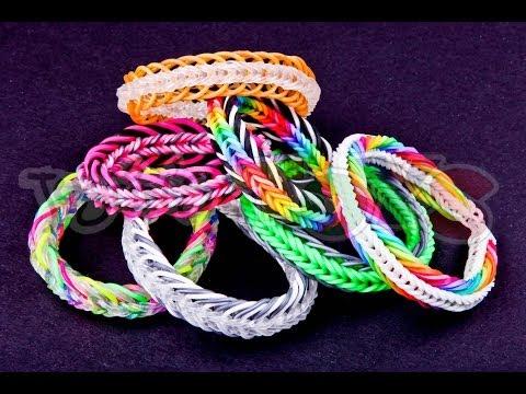 Super 7 Seven Link Fishtail - EASY Rainbow Loom and Monster Tail Bracelet Tutorial
