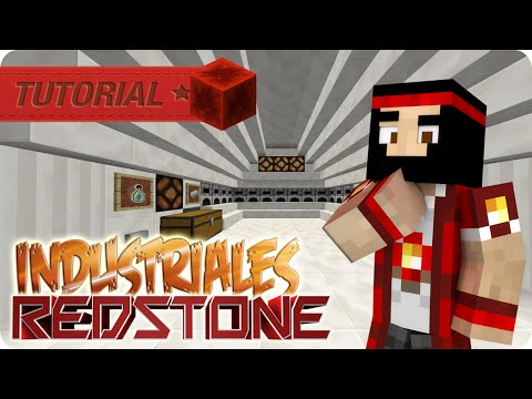 REDSTONE MINECRAFT TUTORIAL DE HORNOS INDUSTRIALES