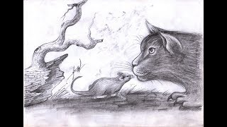how to draw tom and jerry - Draw Cat and Mouse - Samut CTC Art
