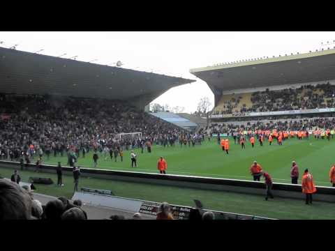 WOLVES FANS INVADE PITCH. April 27 2013. Last home game against Burnley
